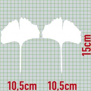 1 Paar 2 Blätter 15cm weiß voll Ginkgo Blatt Aufkleber Tattoo Ginko Gingko Folie - Vorschau 2