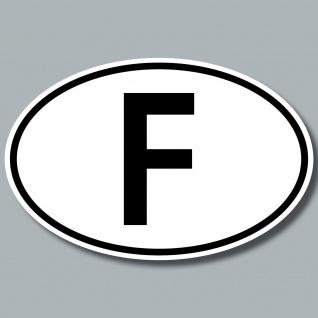 Auto Pkw Kfz Kennzeichen Länderkennzeichen Frankreich france F Aufkleber Sticker