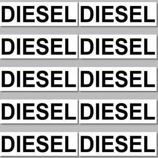 10 Stück Aufkleber Sticker Auto Hinweis Tank Tankdeckel Kraftstoff DIESEL tanken