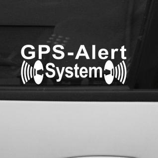 Aufkleber Tattoo GPS Alarm System gelb Auto Schaufenster Außen getönte Scheibe