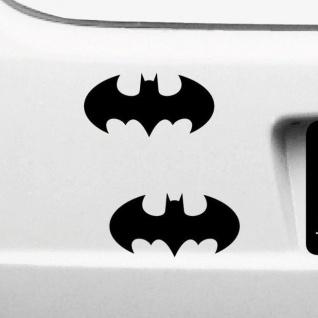 2 Aufkleber 10cm Batman Logo rund Tattoo Auto Motorrad die cut Deko Folie Symbol