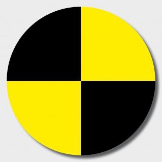 20 Aufkleber 10cm gelb Sticker Fadenkreuz crashtest dummy Zeichen Symbol Marker
