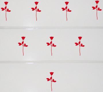 8 Rosen 10cm rot Aufkleber Tattoo Deko Folie Auto Kinder Zimmer Schrank Komode