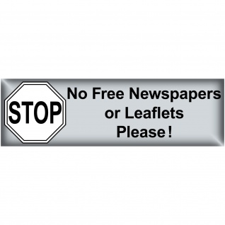 100 Aufkleber Stop No Free Newspapers or Leaflets Please post mail box cleaner