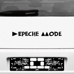 Aufkleber Tattoo 45cm schwarz Schriftzug Delta Auto Heck Deko Folie Depeche Mode
