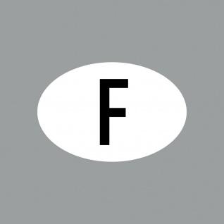 Aufkleber 8cm Sticker F klein Länderkennung Länderkennzeichen 4061963088500