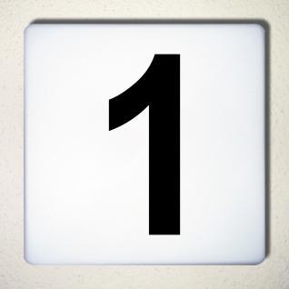 Ziffer 1 schwarz 15cm Aufkleber Tattoo Nummer Zahl Hausnummer Haus Tür Mülltonne - Vorschau 1