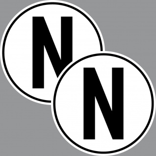 2 Aufkleber N Sticker Neutral Stellung Getriebe Auto Motor Rennsport Racing Kart