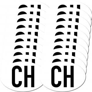 20 Aufkleber Sticker CH swiss Schweiz Auto Zeichen Symbol Länderkennzeichen o
