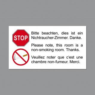 20 Aufkleber 9cm Sticker Nichtraucher Zimmer Hotel Pension Gäste Rauchverbot