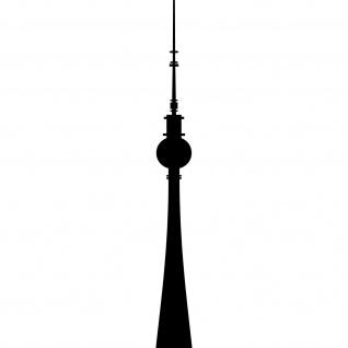 Aufkleber 50cm Fernsehturm Berlin Alexanderplatz Telespargel Tattoo Deko Folie