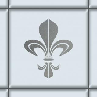 Bourbon Lilie 8cm silber Aufkleber Tattoo Fliesen Spiegel Glas Tür Auto Folie