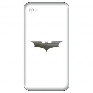 6 Aufkleber Tattoo 5cm chrom Batman neu Fledermaus Handy smartphone Deko Folie