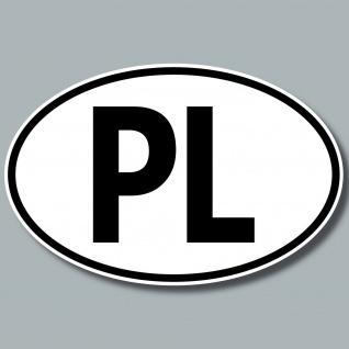 PL Aufkleber Sticker Polen Länderkennung Länderkennzeichen 4061963019818