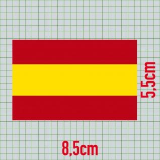 5 Aufkleber 8, 5cm Sticker Spanien Espana Fußball EM WM National Flaggen Fahnen - Vorschau 2