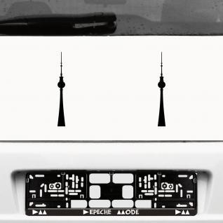 2 Aufkleber 20cm schwarz Tattoo Fernsehturm Funkturm Berlin Auto Deko Folie