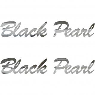 2 Aufkleber Tattoo 20cm chrom Black Pearl Auto Motorrad Racing Deko Folie decal