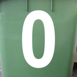 Ziffer 0 weiß 18cm Aufkleber Tattoo Nummer Zahl Hausnummer Haus Tür Briefkasten - Vorschau 2