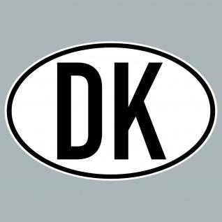 DK Aufkleber Auto Sticker DEN DNK Dänemark Land Länderkennzeichen 4061963019887