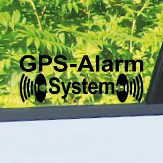 10 Aufkleber Tattoo GPS Alarm System schwarz gespiegelt Auto Shop Laden Fenster