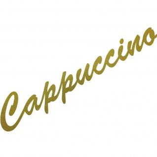Cappuccino 37cm Aufkleber Tattoo Deko Folie Schriftzug Küche Kühlschrank Theke
