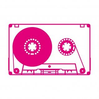 Musik Kassette 20cm pink Aufkleber Tattoo Deko Folie MC Music Cassette DJ Tape