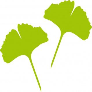 1 Paar 2 Blätter 30cm grün Ginkgo Blatt Aufkleber Tattoo Gingko 4061963037614