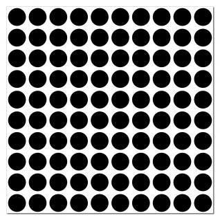 1000 Klebepunkte 18mm selbstklebend Punkt Aufkleber PVC Folie Etiketten Inventur