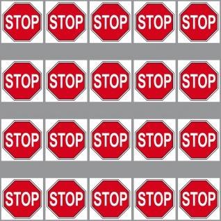 20 Aufkleber 3cm STOP Zeichen Symbol Schild Logo Modellbau Mini Sticker RC Deko