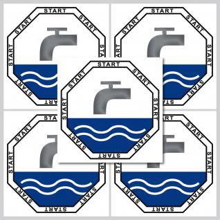 5 Aufkleber 5cm Sticker Start Taste WC Bad 00 Toilette Wasser Spülung Spülkasten - Vorschau 2