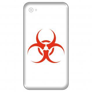 4 Aufkleber Tattoo 5cm rot bio hazard Biohazard logo Handy smartphone Deko Folie
