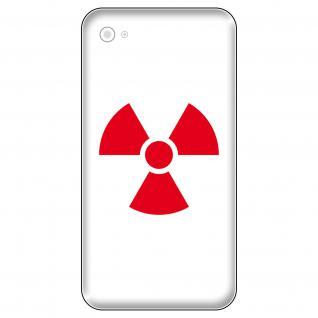 4 Aufkleber Tattoo 5cm rot Radioaktiv x-ray Symbol Logo Zeichen Handy Deko Folie