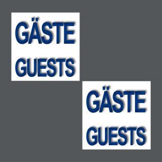 5 Aufkleber 5cm Sticker Gäste Guests Handtuch Hinweis Bad WC 00 Fliesen Spiegel - Vorschau 2