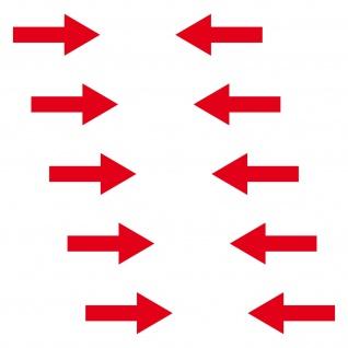 10 Aufkleber Pfeil 5cm breit rot Fluss Richtung Tattoo Deko Folie 4061963037249