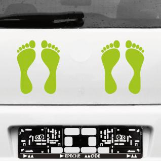1 Paar 2 Füße 20cm grün Fuß Abdruck Spur Aufkleber Auto Möbel Tattoo Deko Folie