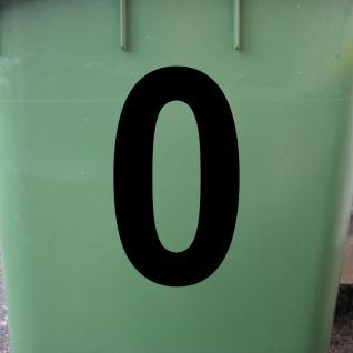 Ziffer 0 schwarz 15cm Aufkleber Tattoo Nummer Zahl Hausnummer Haus Tür Mülltonne - Vorschau 2