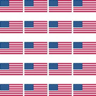 20 Aufkleber 2, 4cm USA US Amerika Länder Flagge Fahne Mini Sticker RC Modellbau