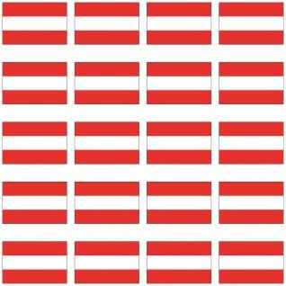 20 Aufkleber 2cm Österreich AUT Länder Fahne Flagge RC Modellbau Mini Sticker