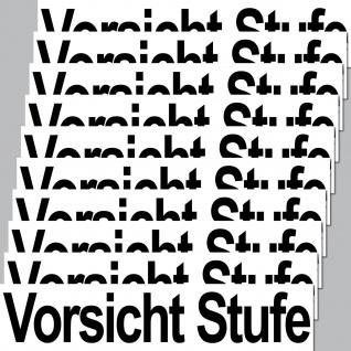 10 Stück Aufkleber 20cm Sticker VORSICHT STUFE Hinweis Haus Tür Keller Kellertür