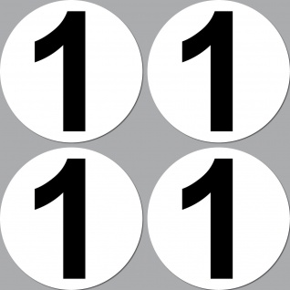 4 Aufkleber 15cm Start Nummer 1 Ziffer Zahl Auto Rennsport Racing Kart Gokart