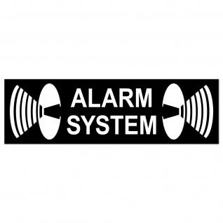 Aufkleber Alarm System 6, 5cm Sticker Warnung Haus Tür Fenster Glas Rollladen