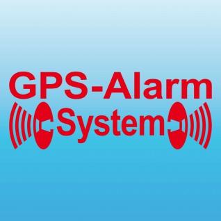 GPS Alarm System rot gespiegelt Innenseite Aufkleber Tattoo Folie 4061963014165