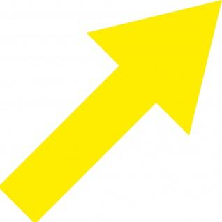 Aufkleber Pfeil 30cm breit gelb Tattoo Auto Tür Fenster Deko Folie 4061963037539