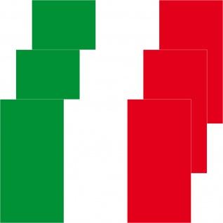 3 Aufkleber 8, 5cm Sticker Italien Italy Fußball EM WM National Flaggen Fahnen