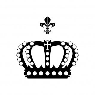 Krone mit Lilie 28cm schwarz Aufkleber Tattoo Deko Folie Auto Möbel Fenster Tür