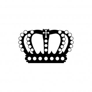 Perlen Krone 20cm schwarz Aufkleber Tattoo Deko Folie Auto Möbel Fenster Tür