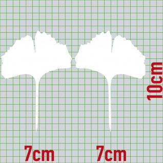 1 Paar 2 Blätter 10cm weiß voll Ginkgo Blatt Aufkleber Tattoo Ginko Gingko Folie - Vorschau 2