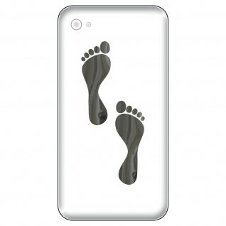 2 Paar Aufkleber Tattoo 5cm chrom Elfen Füßchen Füße Handy smartphone Deko Folie