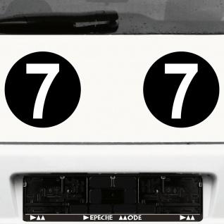 2 Stück Startnummern 20cm Kreis schwarz + Ziffer 15cm weiß Auto Racing Aufkleber