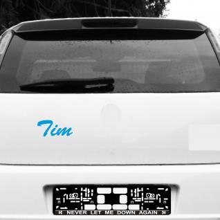 Tim 16cm blau Kinder Name Fenster Tür Heck Auto Deko Folie Tattoo Aufkleber